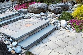 Custom walkway with steps